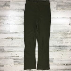 Vintage 90s Army Green Flared Pants Medium